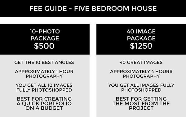 FEE GUIDE TEMPLATE 3A - House Five Bedro