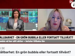 Intervju i DiTv med Therese Nyrén