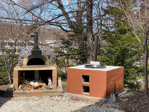 ピザ窯と釜戸