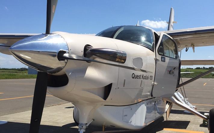 会員制プロペラ機の試乗会