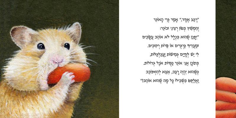 עמוד כפול מתוך ספר הילדים 'מי זה צמר?'