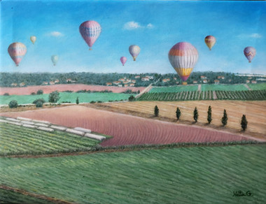 Hot Balloons over the Valley