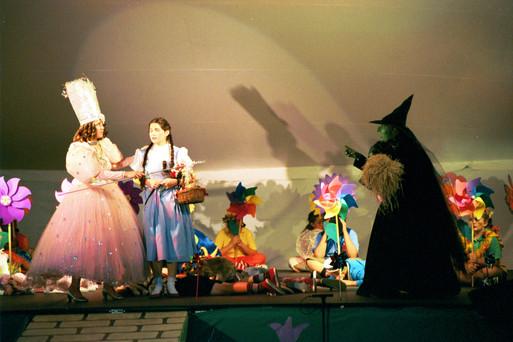Wizard of Oz Marcy Amell (Glinda), Johanna Meyer (Dorothy) Christy Brunje (Wicked Witch)