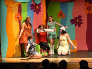 Shout ,the Mod Musical Ashley Cross (Orange Girl), Emily Madan (Blue Girl),Dana Berry (Red Girl), Mary Kate Carter (Green Girl) Elizabeth Abair (Yellow Girl)
