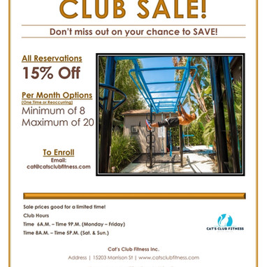 Save BIG At Cat's Club!