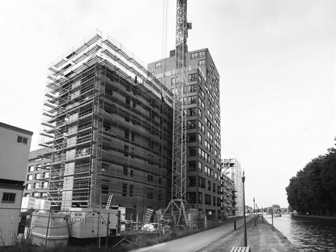 Woontoren 'Belle Fontaine' (Anco-Torens) te Turnhout in de steigers