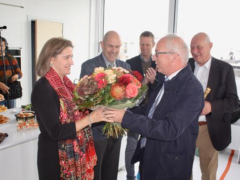 Burgemeester verwelkomt eerste bewoners Schelde-Eiland!