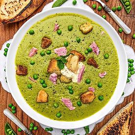 Pea Ham and Mint Soup Gastronomy by Jon