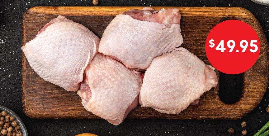 BULK BUY - Chicken Thighs: bone-in