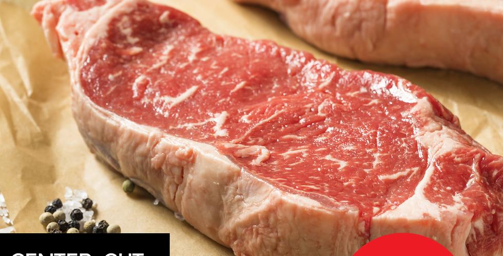 Center-Cut NY Strip Steaks