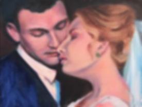 Bride & Groom Wedding Portrait, Patrick Wise, Wedding Artist