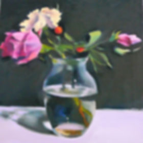 Roses in Glass Wedding Paintin