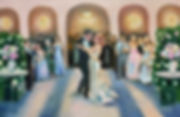 Live Wedding Painting of First Dance