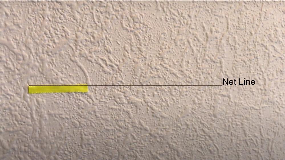 badminton net line indoors