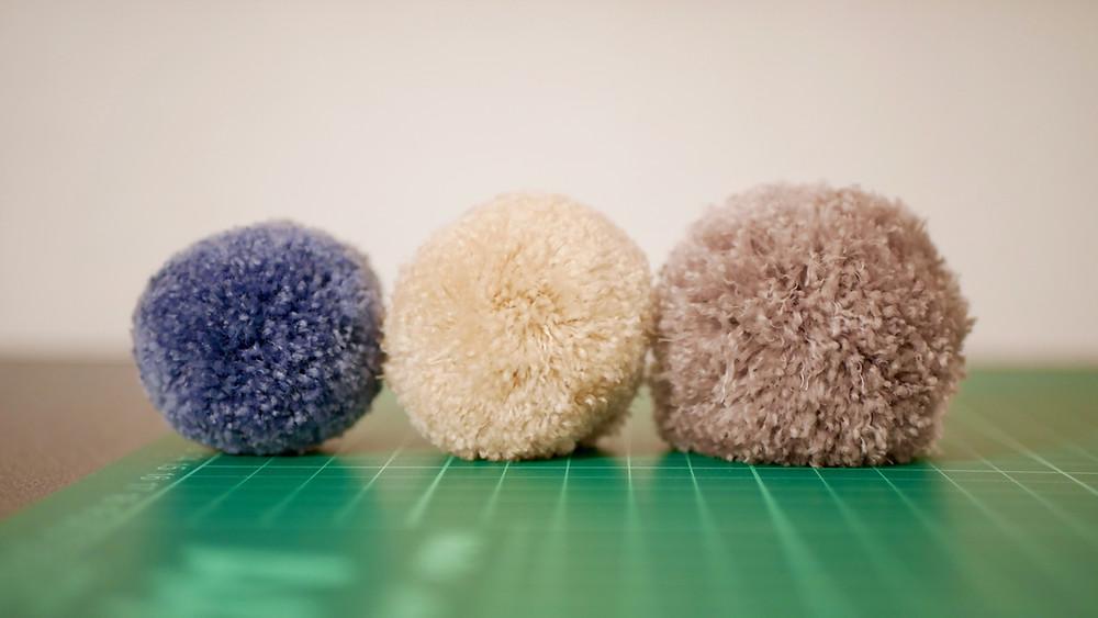 HECS balls of three different sizes