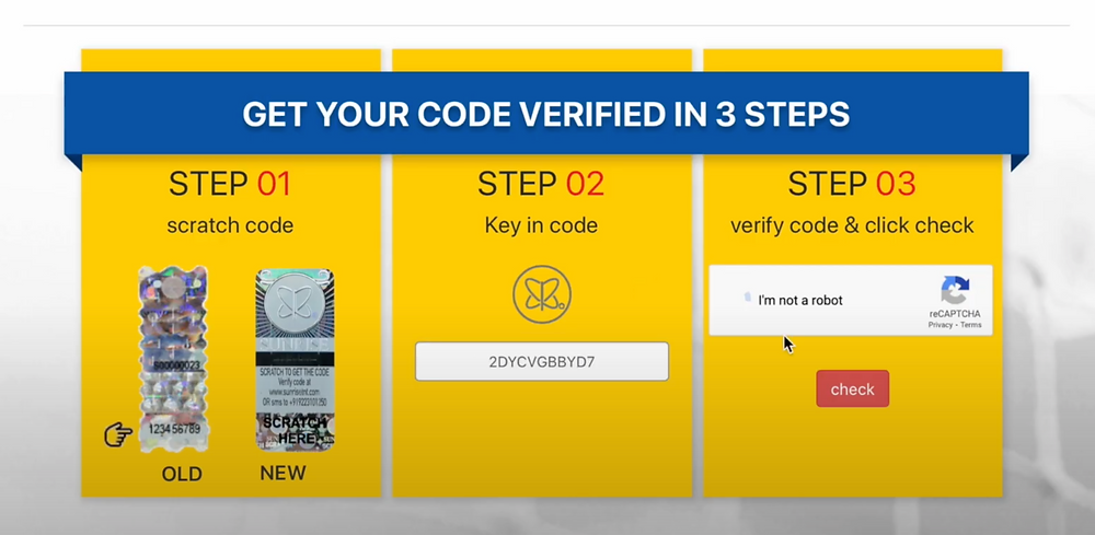 Yonex Sunrise website hologram verifier