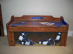 Murals By Marg Hand Painted hockey bench 1.JPG