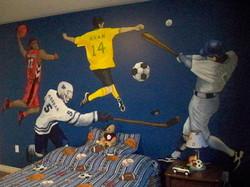 Murals By Marg Boys Sports Bedroom Mural 2.JPG