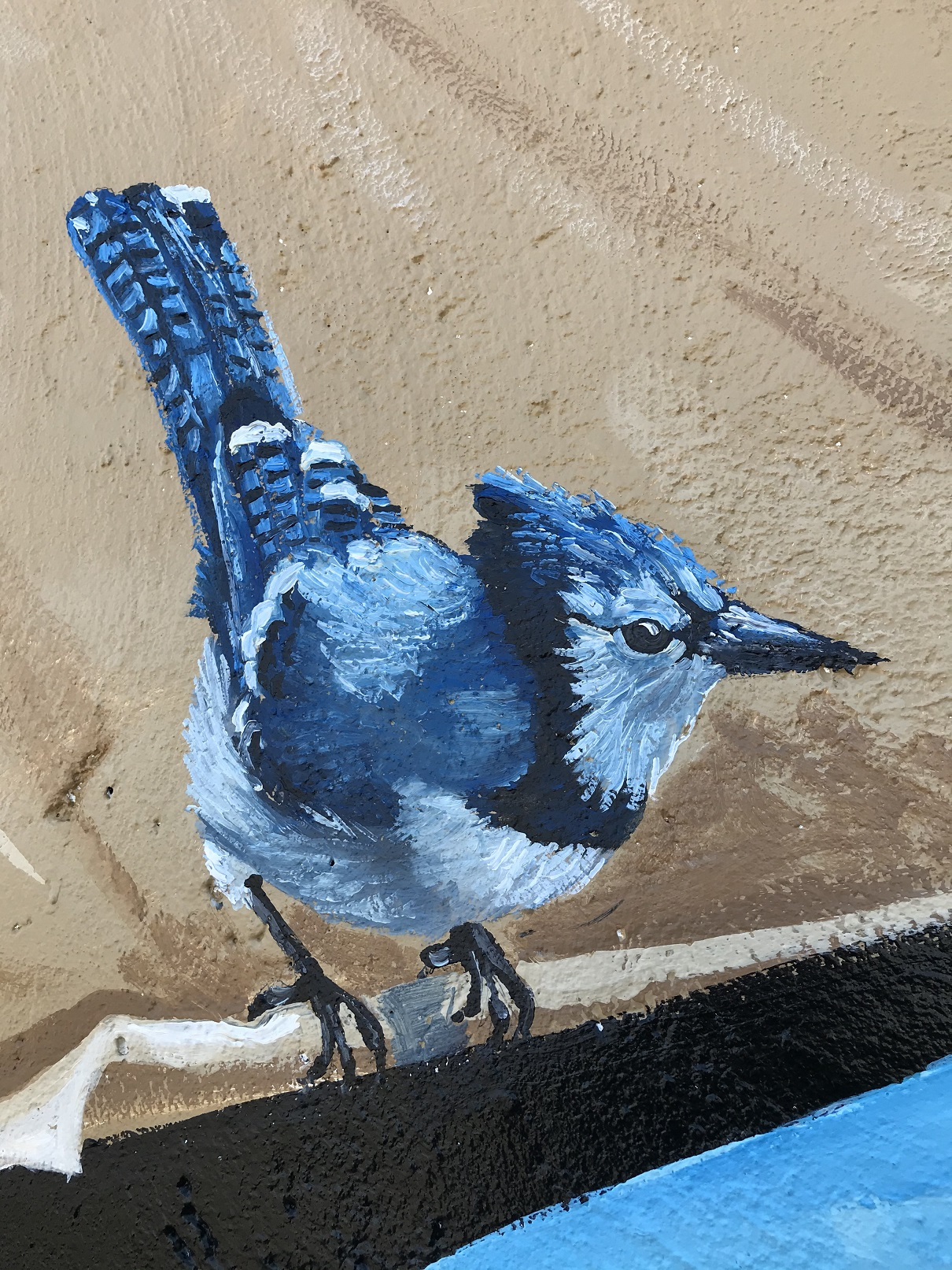 Murals By Marg MPV BIA Mural Blue Jay