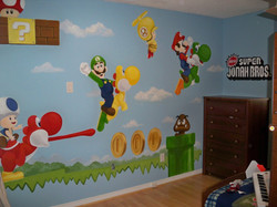 Murals By Marg Mario Brothers Mural 1.JPG