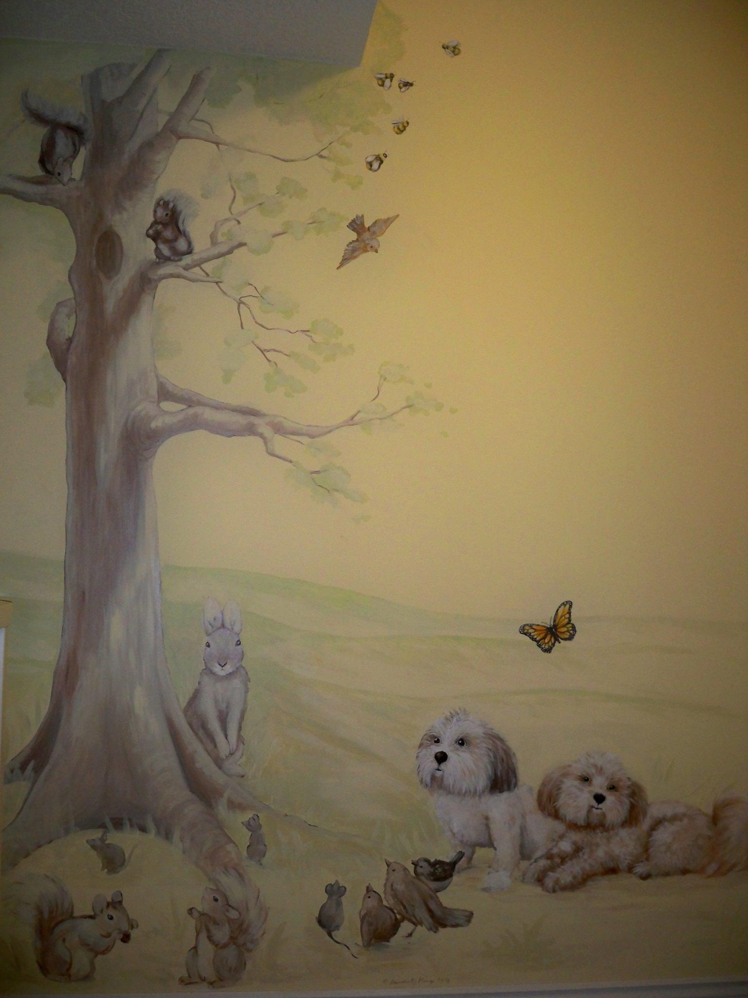 Murals By Marg Kayla's Nursery Mural 3