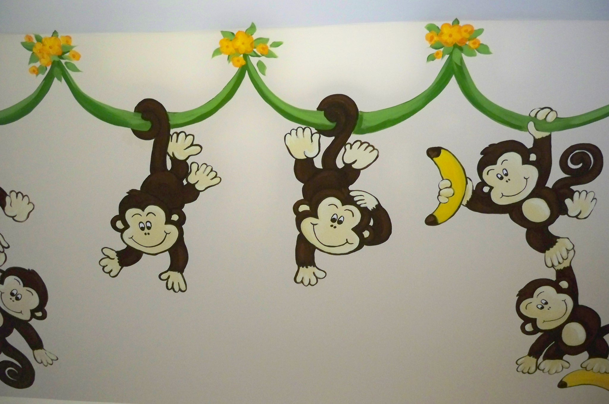 Murals By Marg Many Monkeys Nursery Mural 2010 7