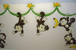 Murals By Marg Many Monkeys Nursery Mural 2010 7