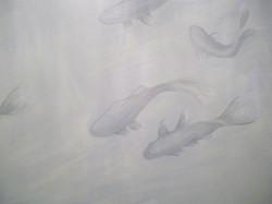 Murals By Marg Koi Powder Room 7