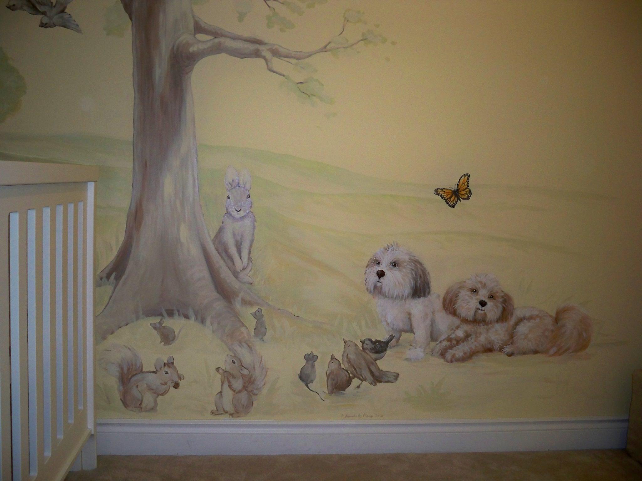 Murals By Marg Kayla's Nursery Mural 2