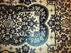 Murals By Marg Hand Painted Lace floor cloth.JPG