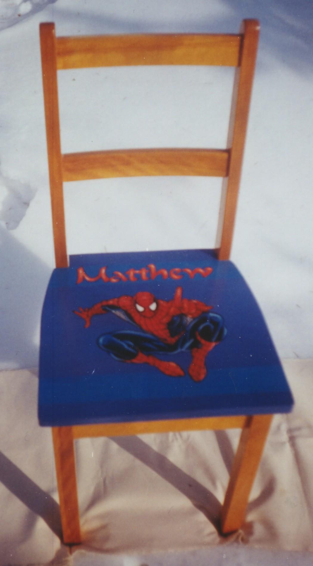 Murals By Marg Hand Painted Furniture  Matthew's Chair.jpg