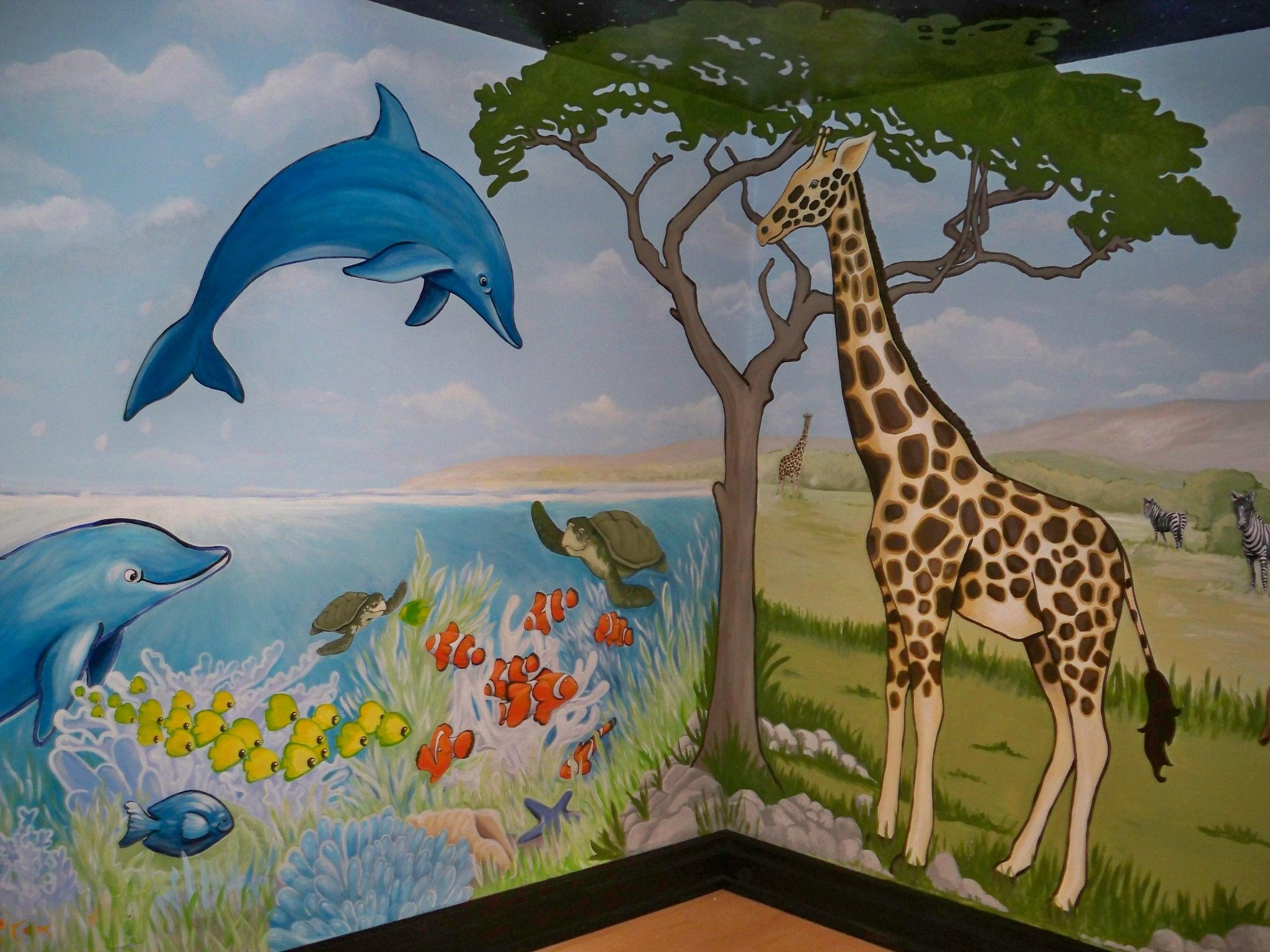 Murals By Marg Safari Mural 29