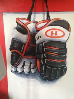 Murals By Marg -- boys hockey room 21