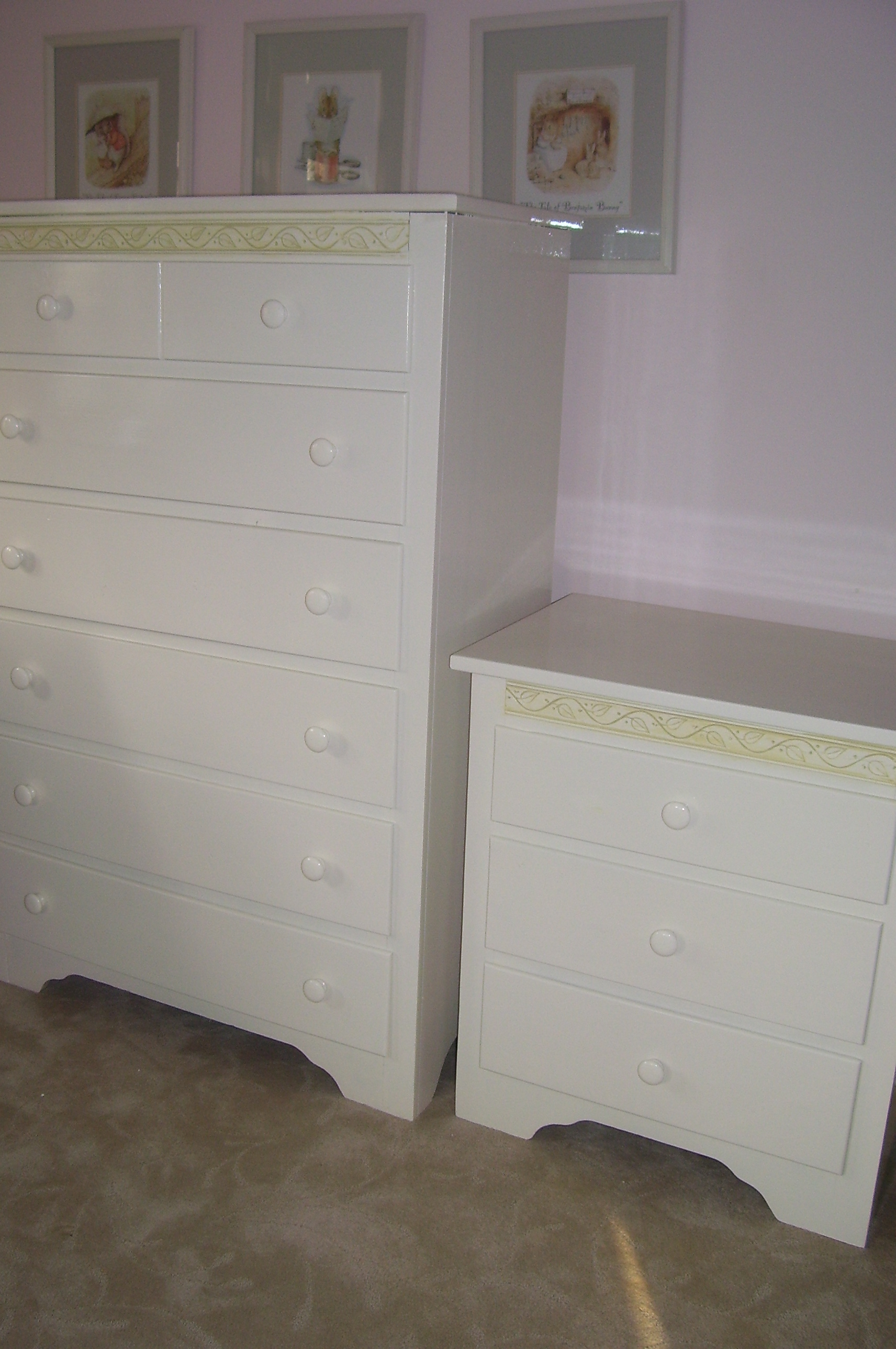 Murals By Marg Hand Painted Furniture girls furniture.JPG