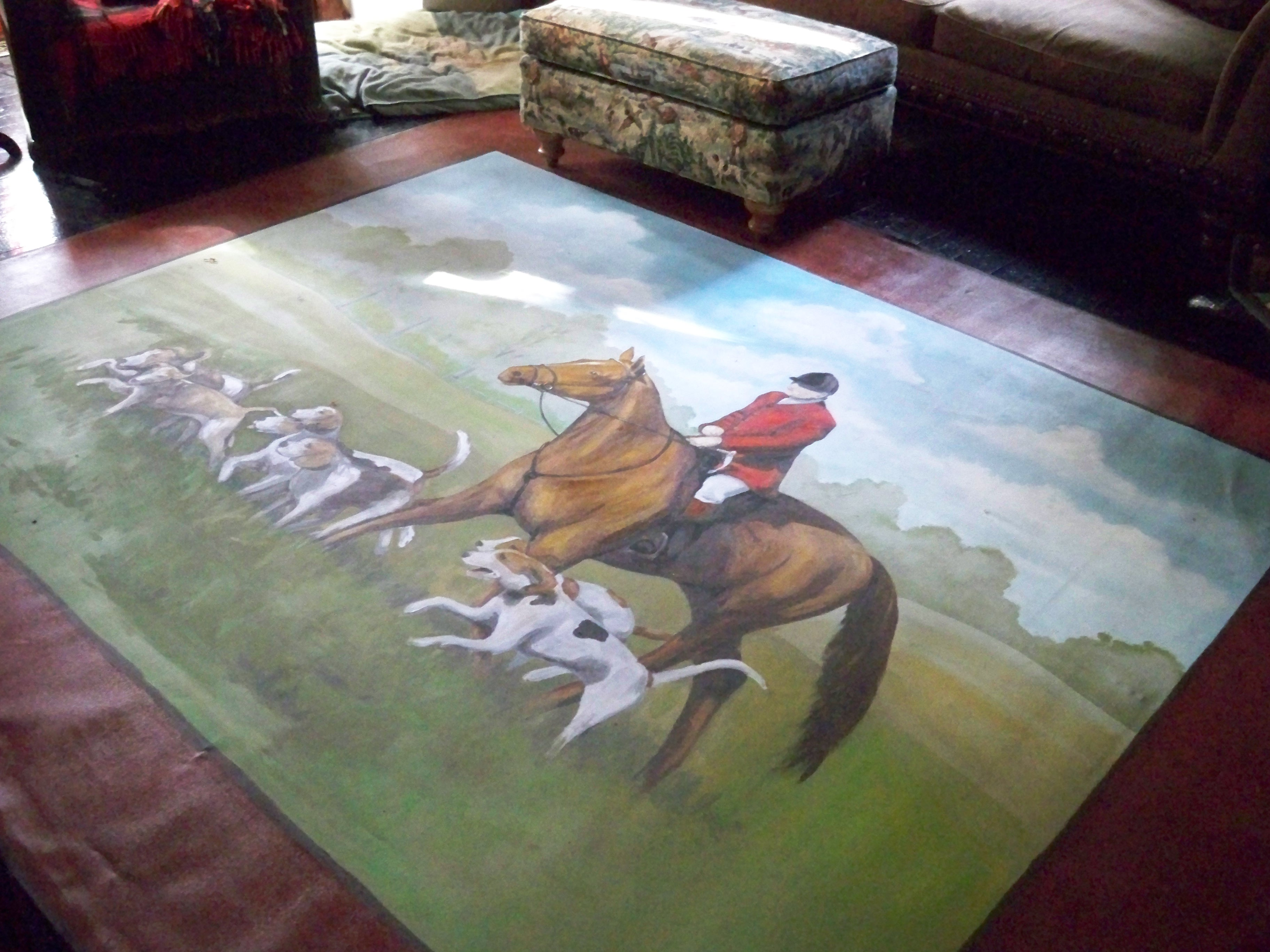 Murals By Marg Painted Floor Cloth 1.JPG