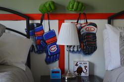 Murals By Marg -- boys hockey room 4