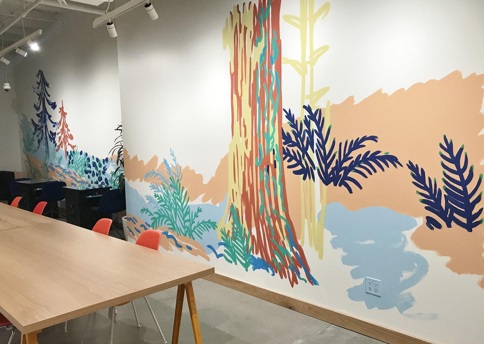 Murals By Marg WeWork Landscape mural