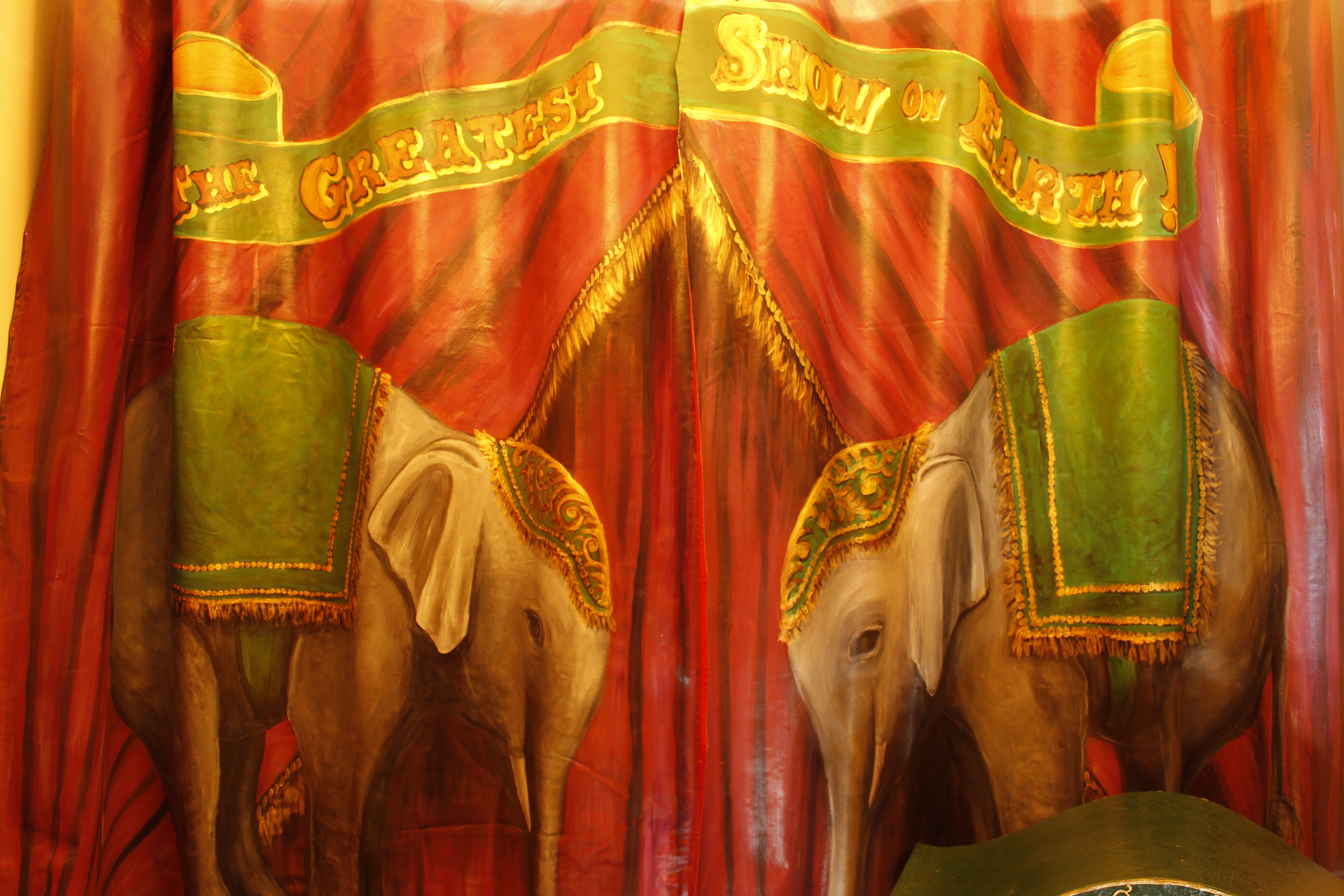 Murals By Marg Elephant curtains 3