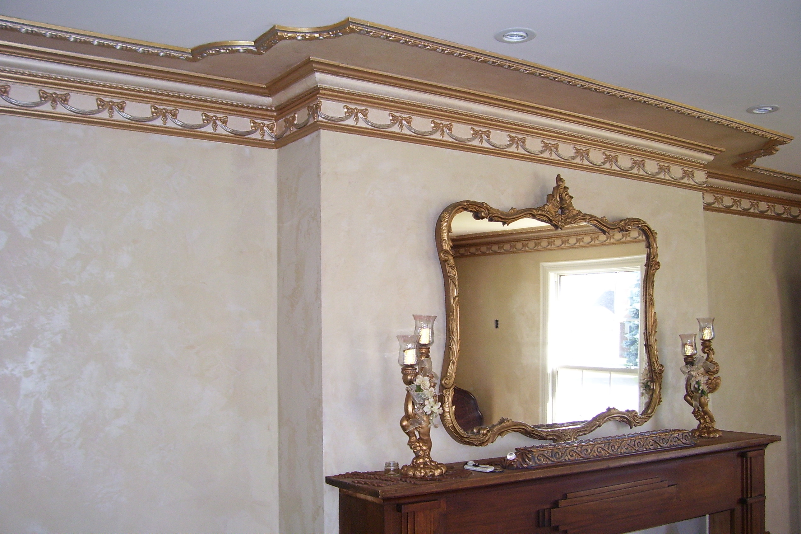 Murals By Marg Gold Hand Painted Parlour molding 1.jpg