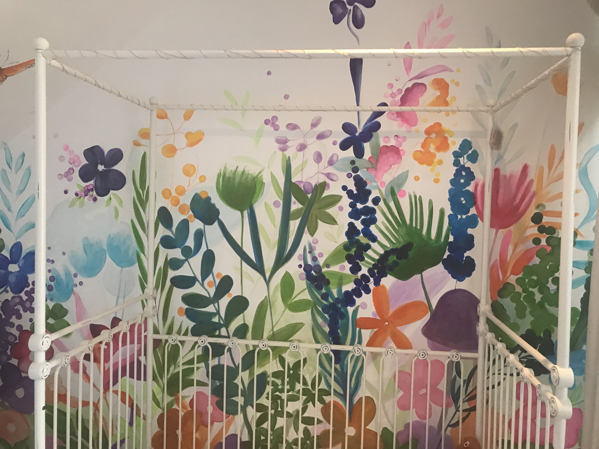 Murals By Marg - Spring Flowers Mural 6.