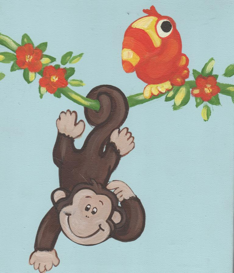 Murals By Marg Hanging Monkeys 2.JPG