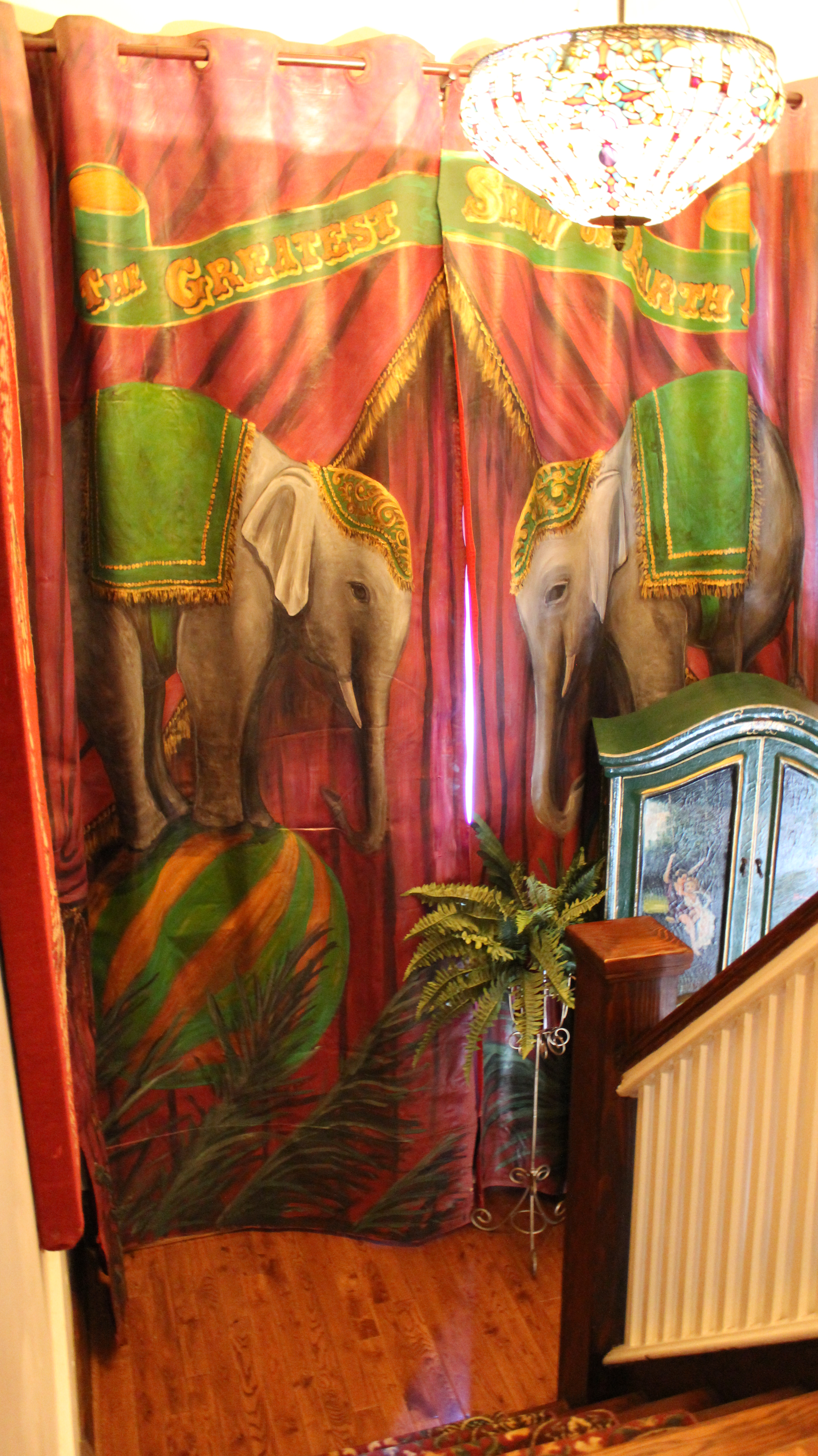 Murals By Marg Elephant curtains 1