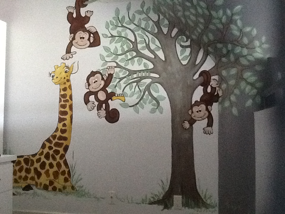 Murals By Marg Mini Monkey Nursery 5