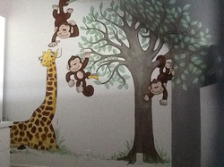 Murals By Marg Mini Monkey Nursery 5