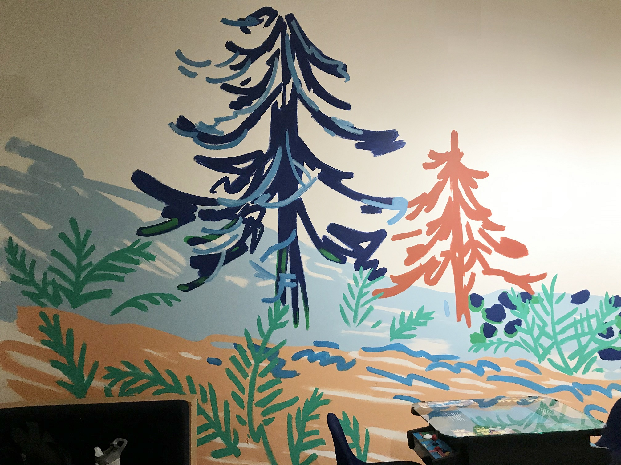 Murals By Marg WeWork Landscape mural 1.