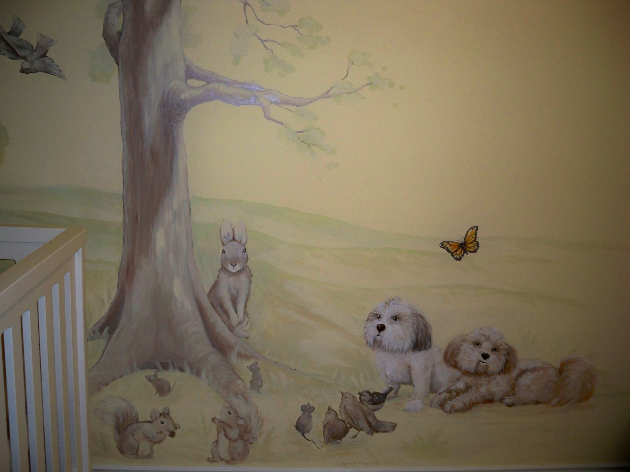 Murals By Marg Kayla's Nursery Mural 1