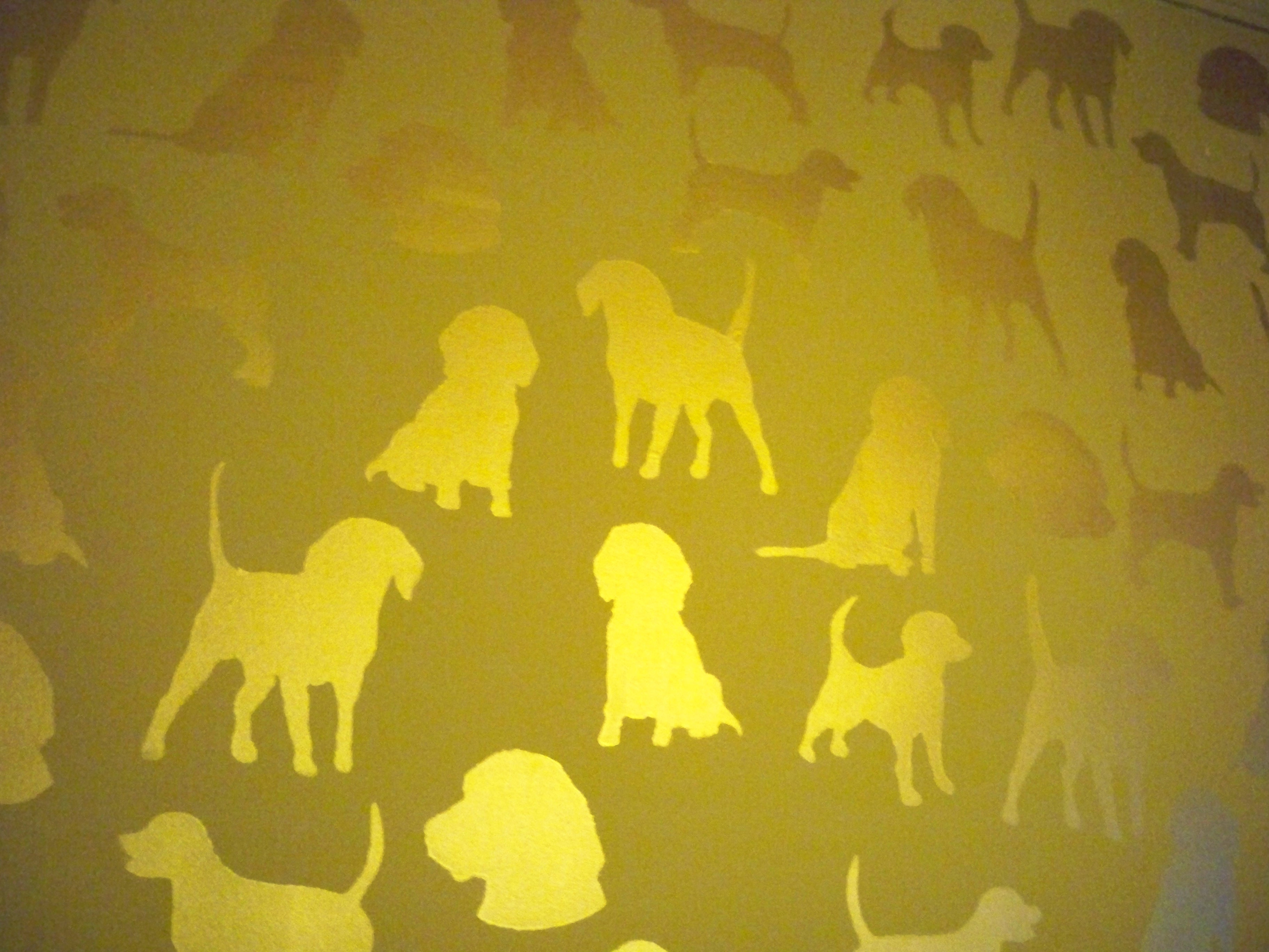 Murals By Marg Hand Painted Wallpaper Beagles 3.JPG