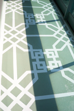 Murals By Marg Hand Painted Terrace geometric pattern 2