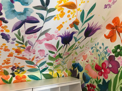 Murals By Marg - Spring Flowers Mural 3.