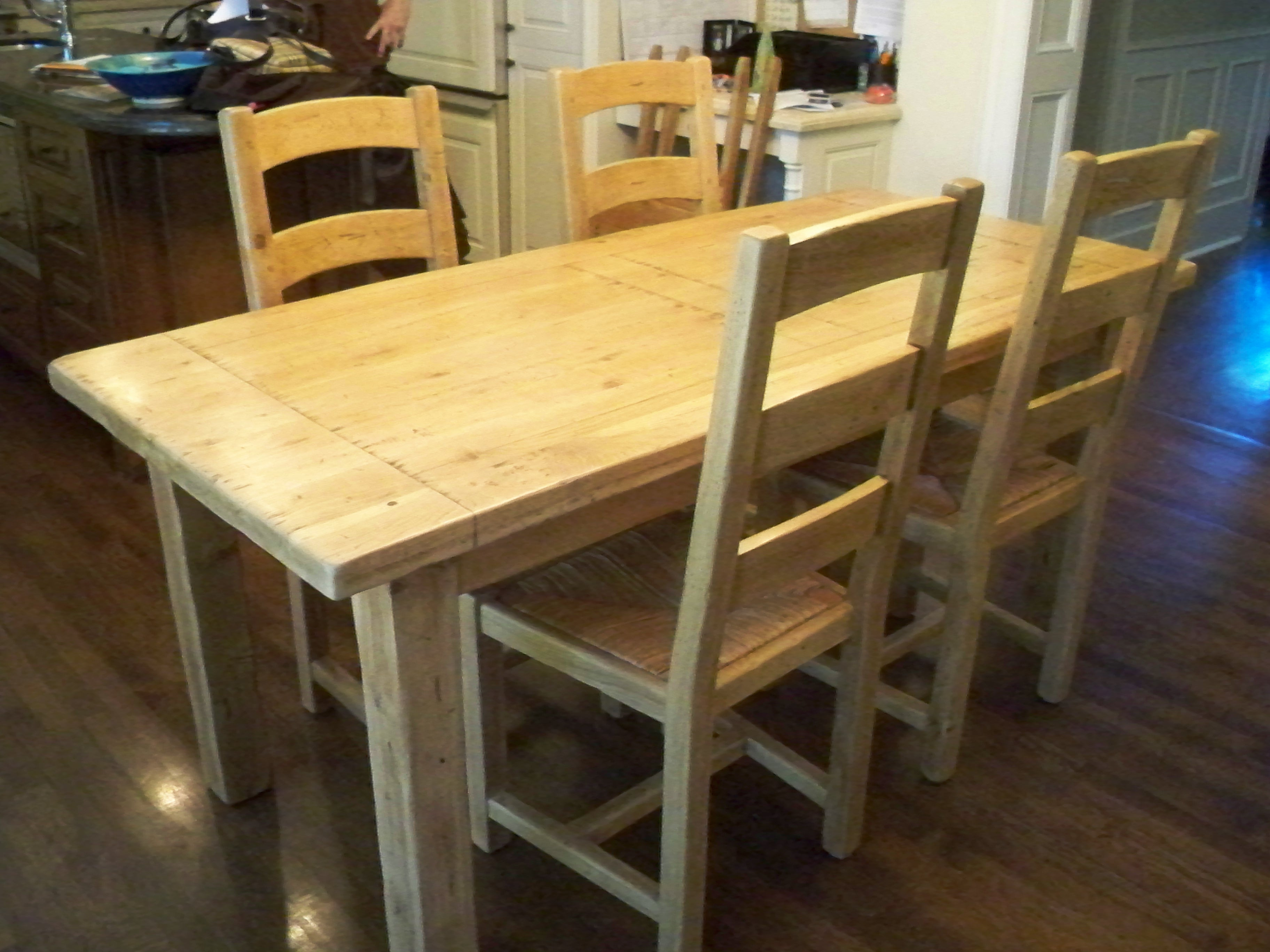Murals By Marg Refinished to natural oak table.JPG
